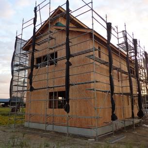 2016年新潟市の新築住宅施工中